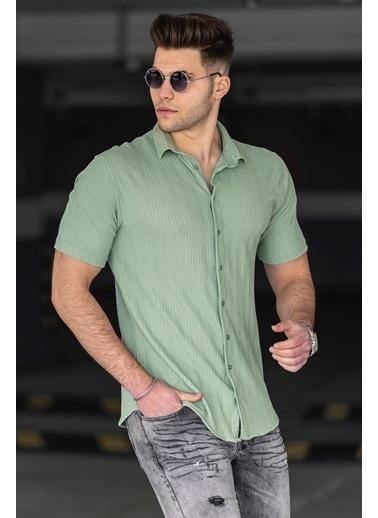 Madmext  Su i Erkek Gömlek 4937 Yeşil